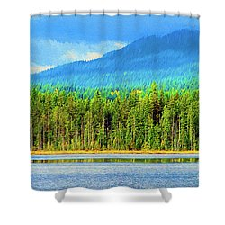 Shower Curtain featuring the photograph Whonnock Lake Mountain Photo Art by Sharon Talson