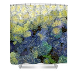 Whorls And More Whorls Shower Curtain