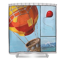 Who's Flying This Thing? Shower Curtain