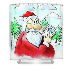 Who's Naughty Or Nice Shower Curtain