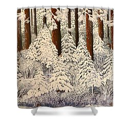 Whose Woods These Are I Think I Know Shower Curtain