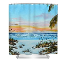 Why Not Siesta Key Shower Curtain