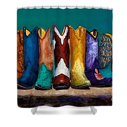 Why Real Men Want To Be Cowboys 2 Shower Curtain by Frances Marino