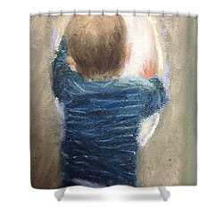 Why The Delay? Shower Curtain