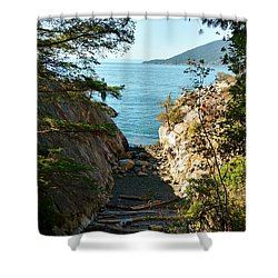 Whyte Cliff Park Shower Curtain