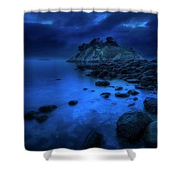 Shower Curtain featuring the photograph Whytecliff Dusk by John Poon