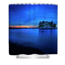 Whytecliff Sunset Shower Curtain by John Poon