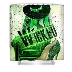 Wicked Shower Curtain by Mo T