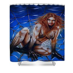Wicked Web Shower Curtain