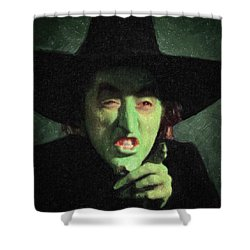 Wicked Witch Of The East Shower Curtain by Taylan Apukovska