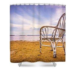 Wicker Chair Shower Curtain