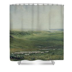 Wide Pastures Shower Curtain by Thomas Collier