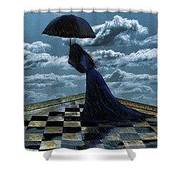 Widow In The Rain Shower Curtain
