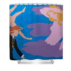 Shower Curtain featuring the painting Therapist by Erika Chamberlin