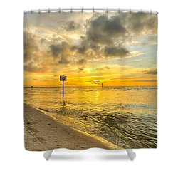 Wiggins Pass State Park Shower Curtain by Sean Allen