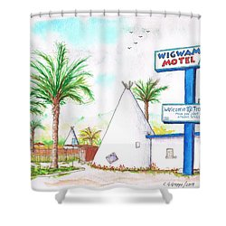 Wigman Motel, Route 66, San Bernardino, Ca Shower Curtain