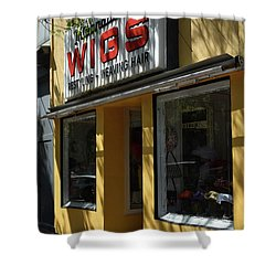Shower Curtain featuring the photograph Wigs by Skip Willits