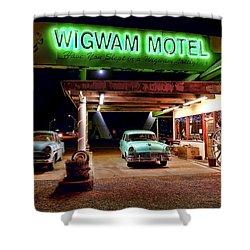 Wigwam Motel Shower Curtain
