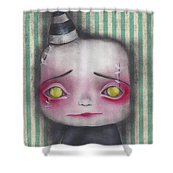 Wilbert  Shower Curtain by Abril Andrade Griffith