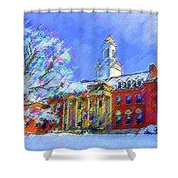 Wilbur Library  Uconn Shower Curtain
