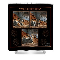 Shower Curtain featuring the photograph Wild Affection 2 by Terri Mills