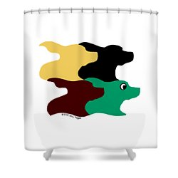 Wild And Crazy Tessellating Dogs Shower Curtain