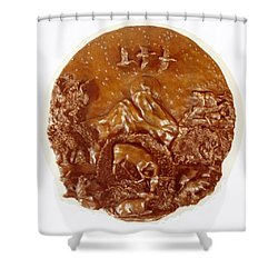 Shower Curtain featuring the sculpture Wild And Free Detail by Dawn Senior-Trask