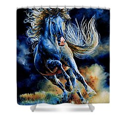 Shower Curtain featuring the painting Wild And Free by Hanne Lore Koehler