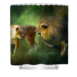 Wild Attraction Shower Curtain by Carol Cavalaris