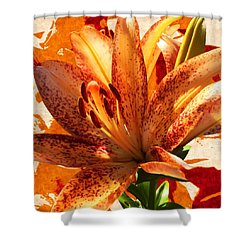 Wild Beauty With Freckles Shower Curtain