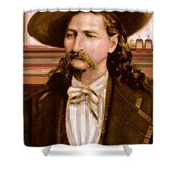 Wild Bill Hickok Shower Curtain by Larry Lamb