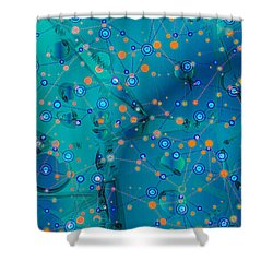 The Wild Blueberry Shower Curtain by Moustafa Al Hatter