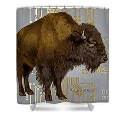 The American Buffalo Shower Curtain