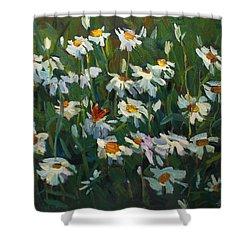 Wild Camomile Shower Curtain