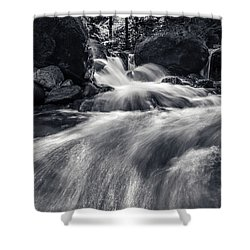 wild creek in Harz, Germany Shower Curtain by Andreas Levi