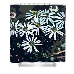 Wild Daisy Art  Shower Curtain
