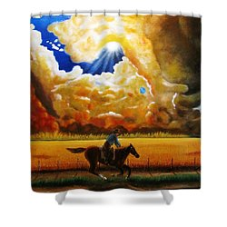 Wild Fire  Shower Curtain