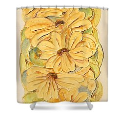 Wild Flower Abstract Shower Curtain