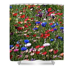 Wild Flower Meadow 2 Shower Curtain