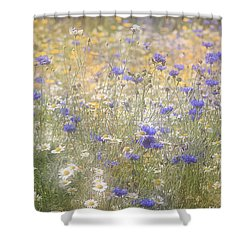 Wild Flower Meadow Shower Curtain