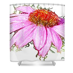Shower Curtain featuring the photograph  Wild Flower Three by Heidi Smith