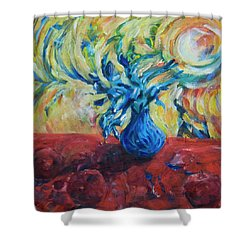 Shower Curtain featuring the painting Wild Flower by Yulia Kazansky