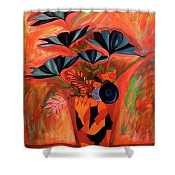 Shower Curtain featuring the painting Wild Flowers  A Still Life  by Iconic Images Art Gallery David Pucciarelli