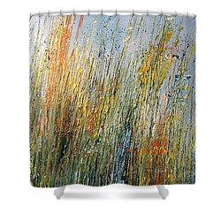 Wild Flowers And Hay Shower Curtain
