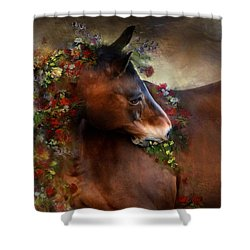 Wild Flowers Shower Curtain by Dorota Kudyba