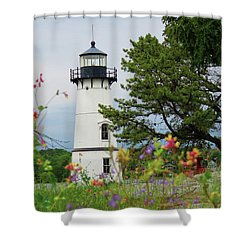 Wild Flowers On Rock Island Shower Curtain