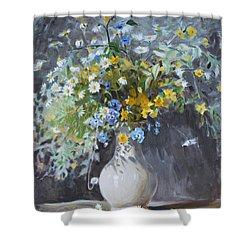 Wild Flowers Shower Curtain by Ylli Haruni