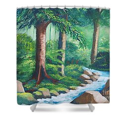 Wild Forest River Shower Curtain