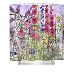 Wild Garden Flowers Shower Curtain