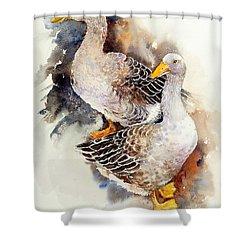Wild Geese Shower Curtain